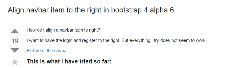 Align navbar  object to the right  within Bootstrap 4 alpha 6