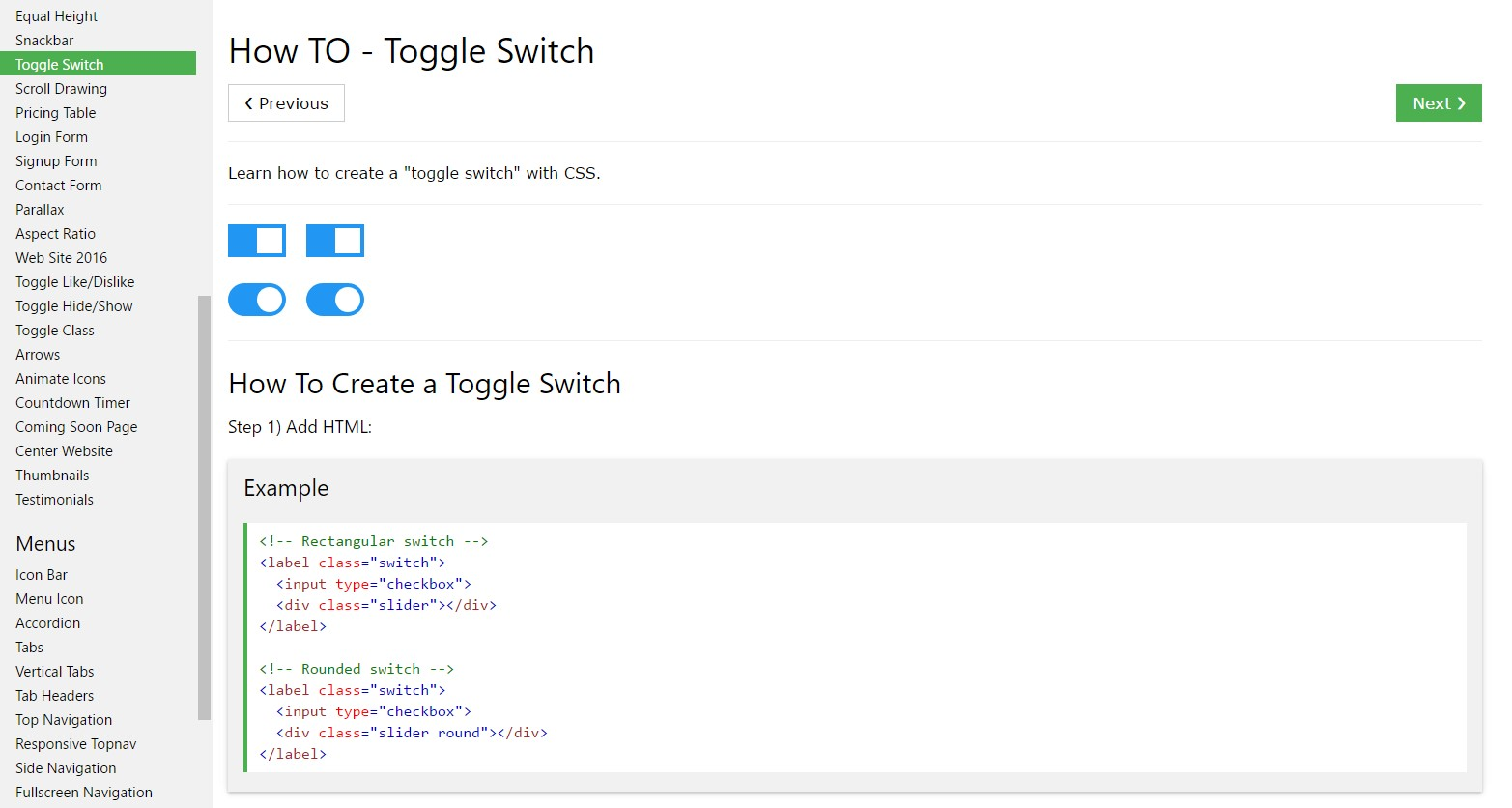 The best ways to  develop Toggle Switch