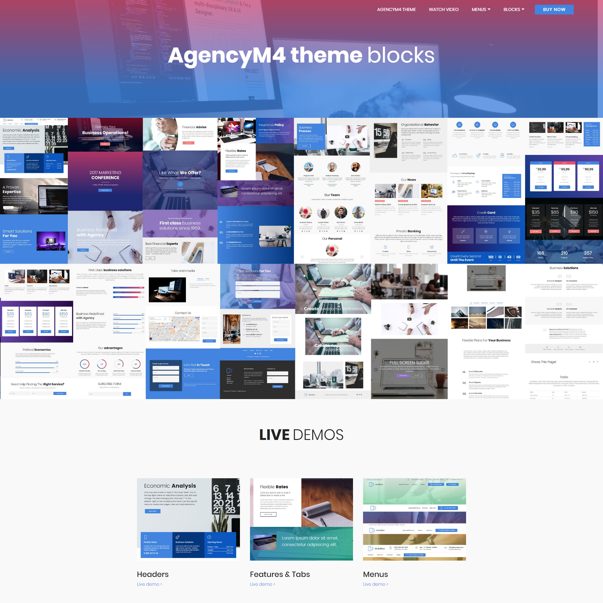 Free Download Bootstrap AgencyM4 Templates