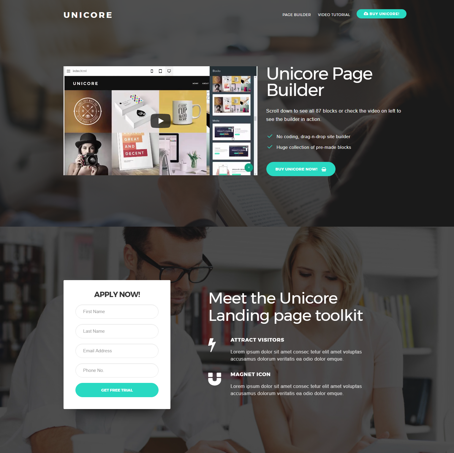 Responsive Bootstrap Unicore Templates
