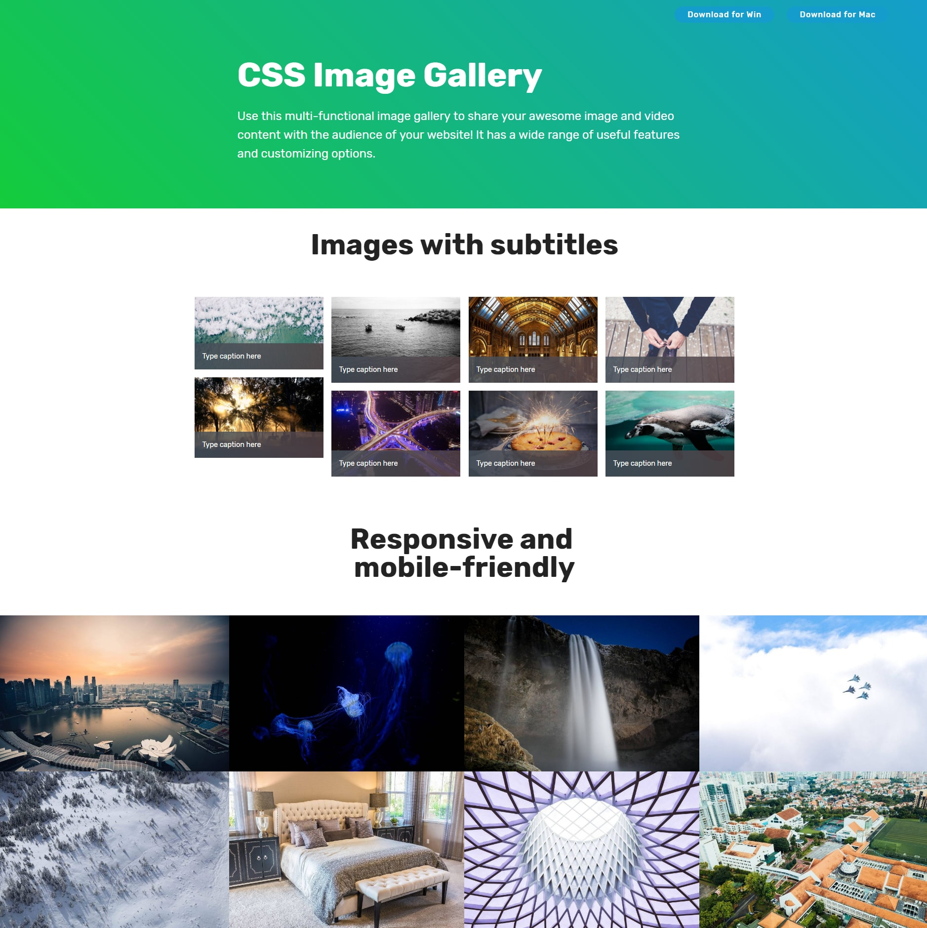CSS Bootstrap Image Gallery