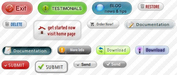 Free Web Site Buttons: Samples