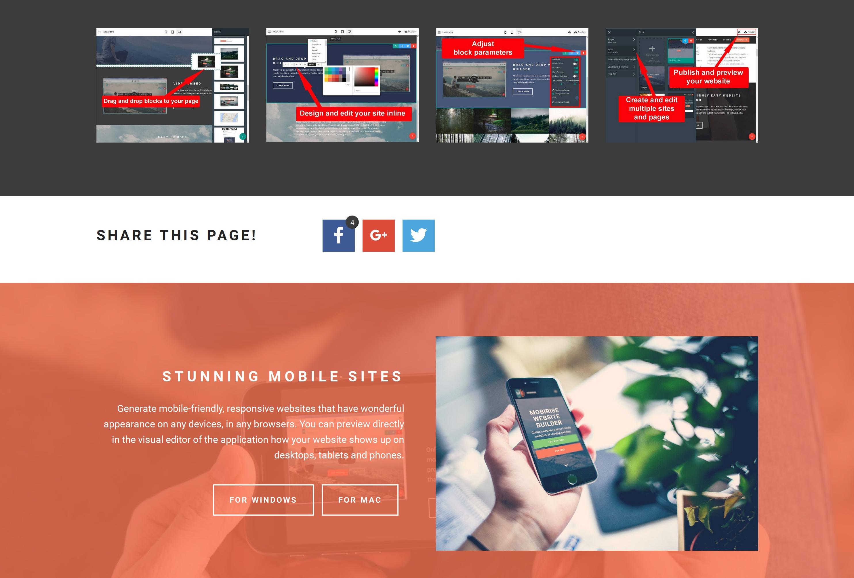 Bootstrap Simple Website Builder