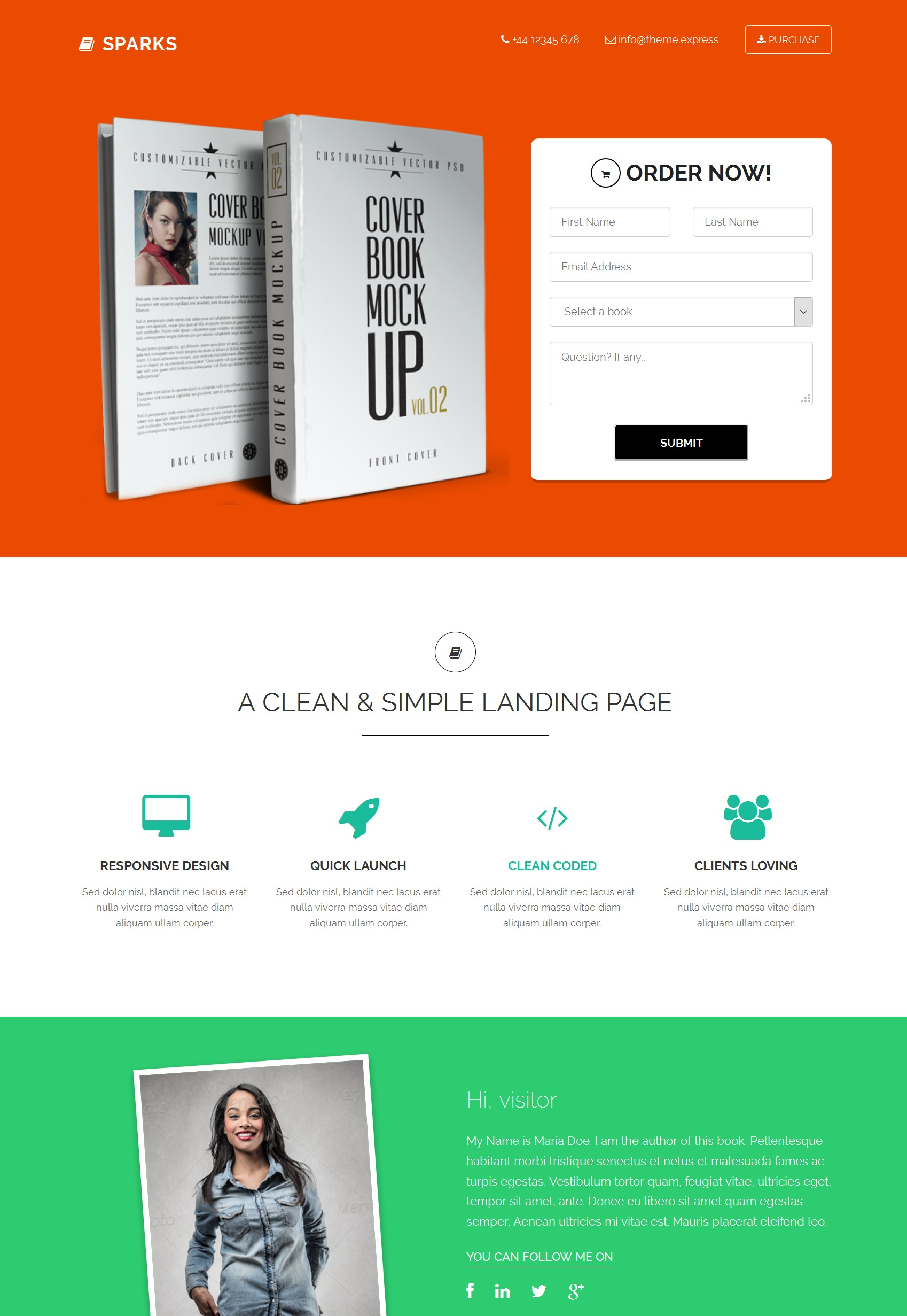CSS3 Bootstrap Website Theme