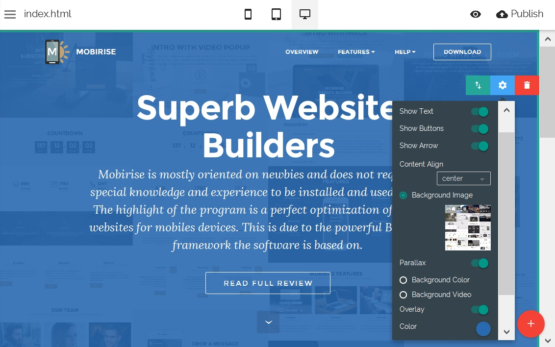 Bootstrap Site Editor