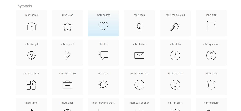 mobirise icons bundle