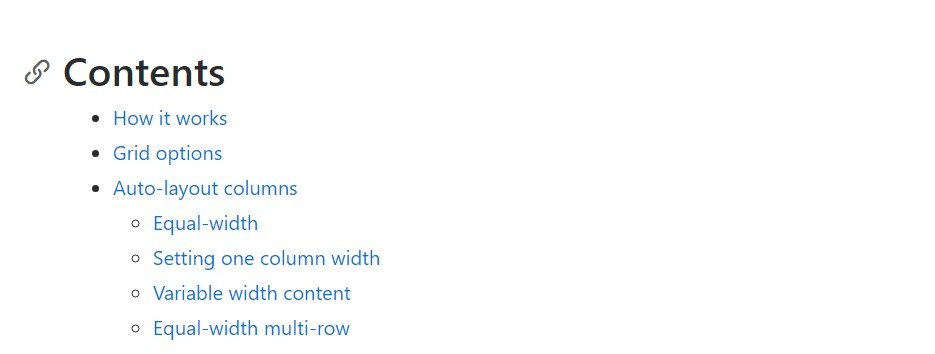 Bootstrap columns official  records