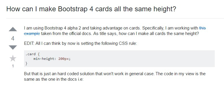 Insights on  exactly how can we  create Bootstrap 4 cards  all the same  height?