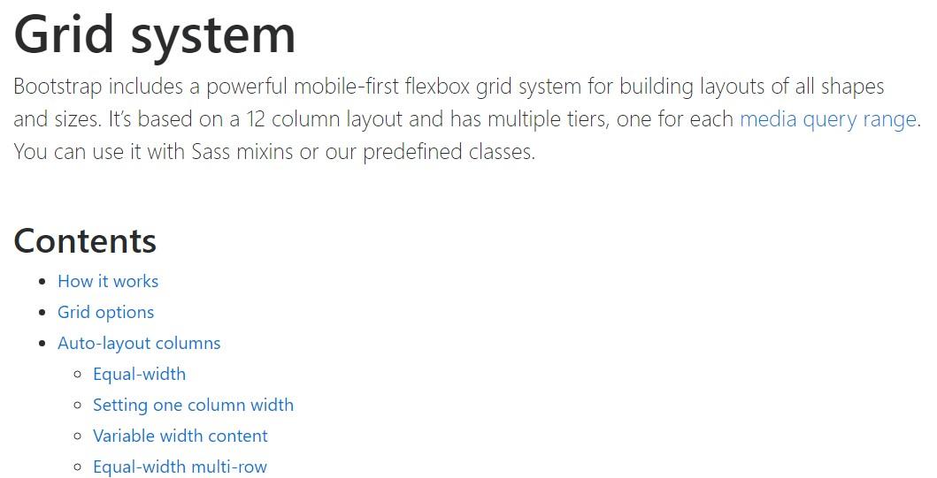 Bootstrap grid  authoritative documentation
