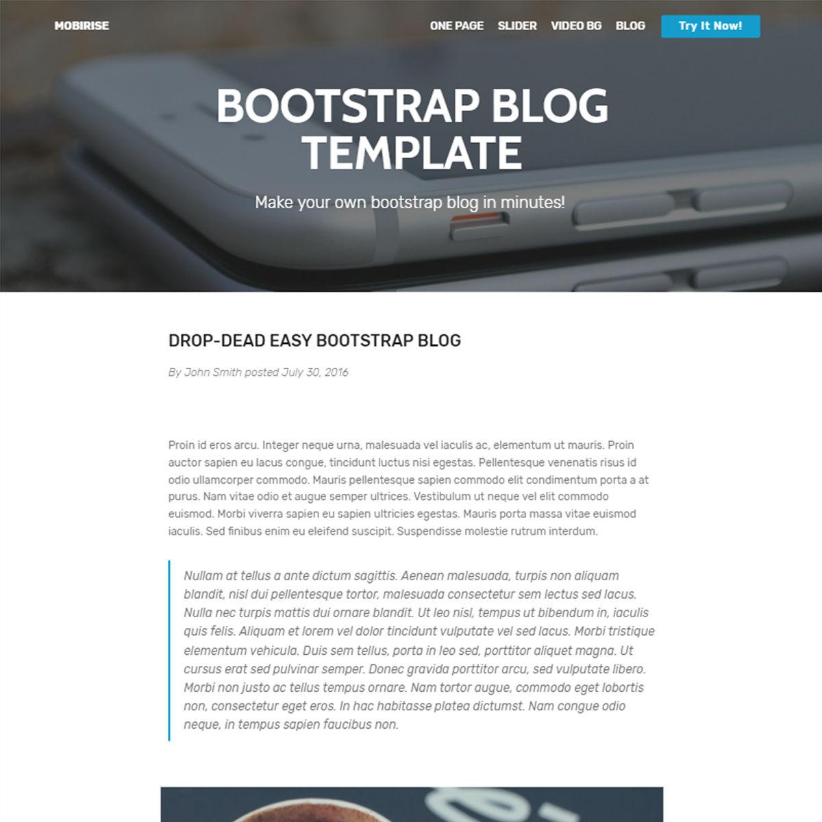 HTML Bootstrap Blog Themes
