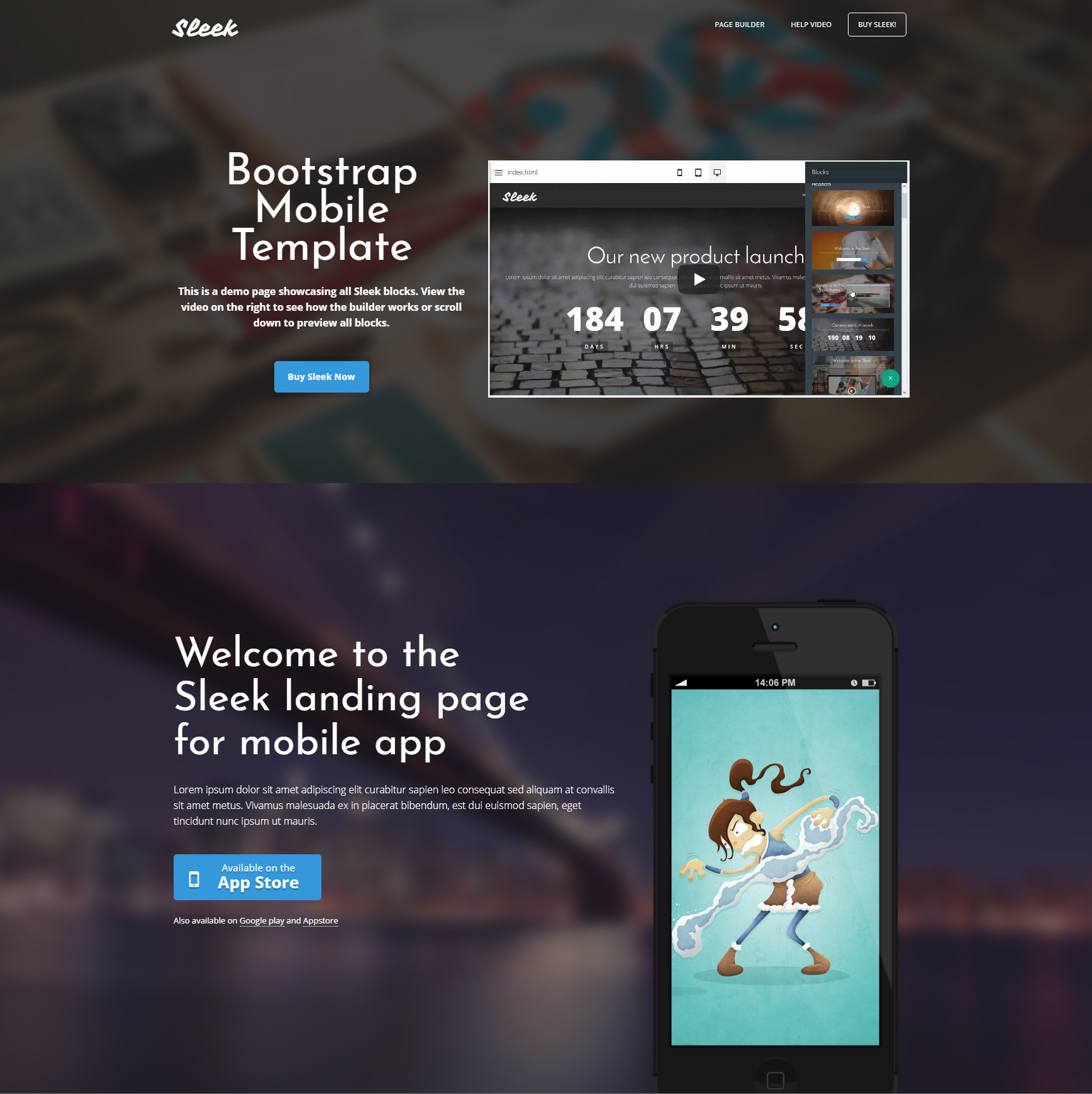 HTML Bootstrap Mobile Templates