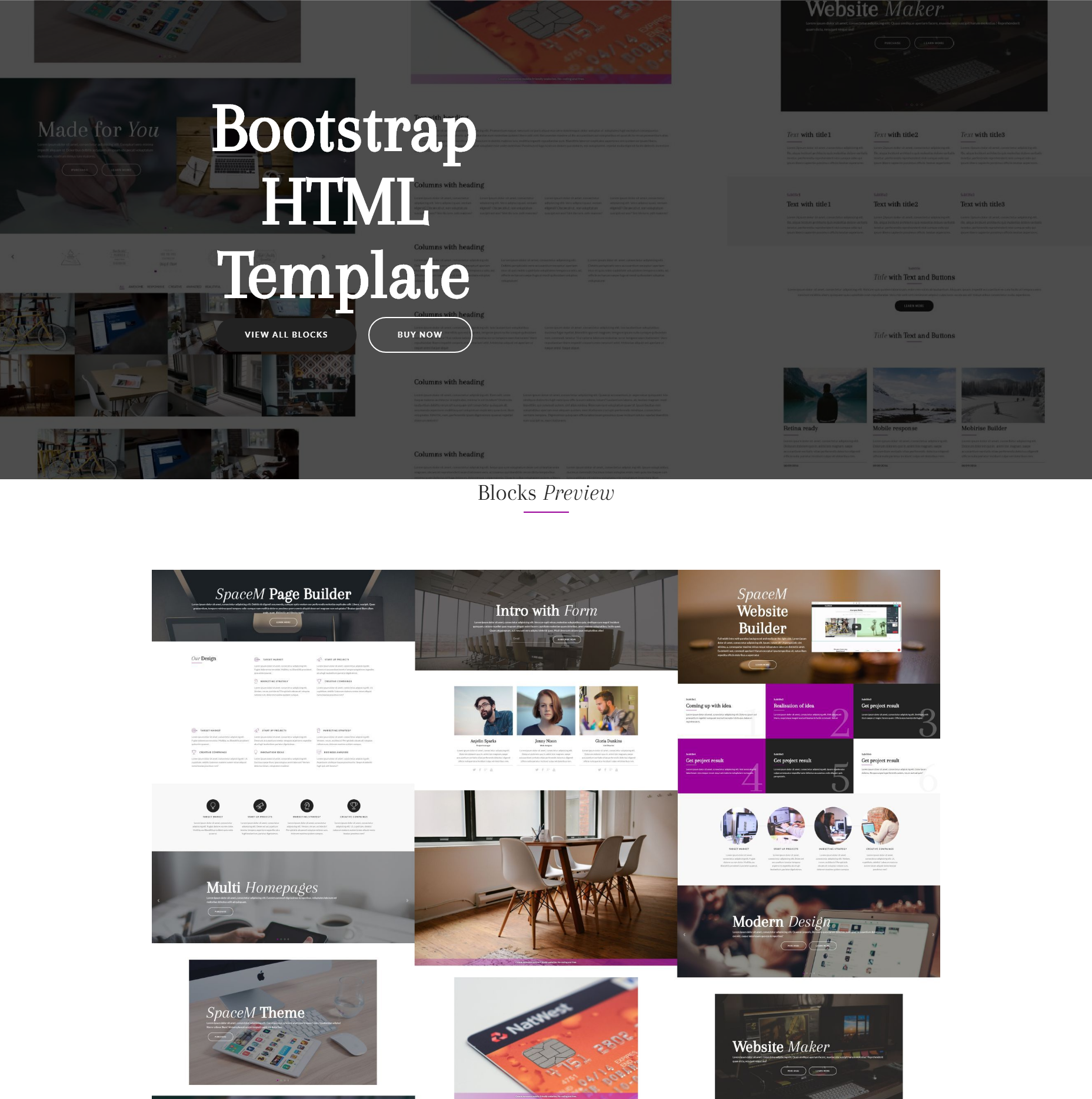 Responsive Bootstrap HTML Themes