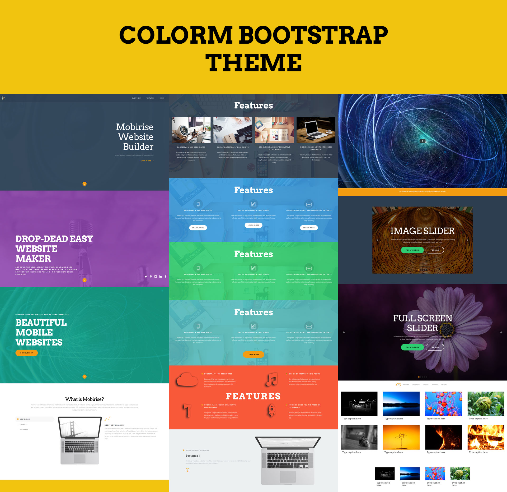 Free Download Bootstrap ColorM Templates
