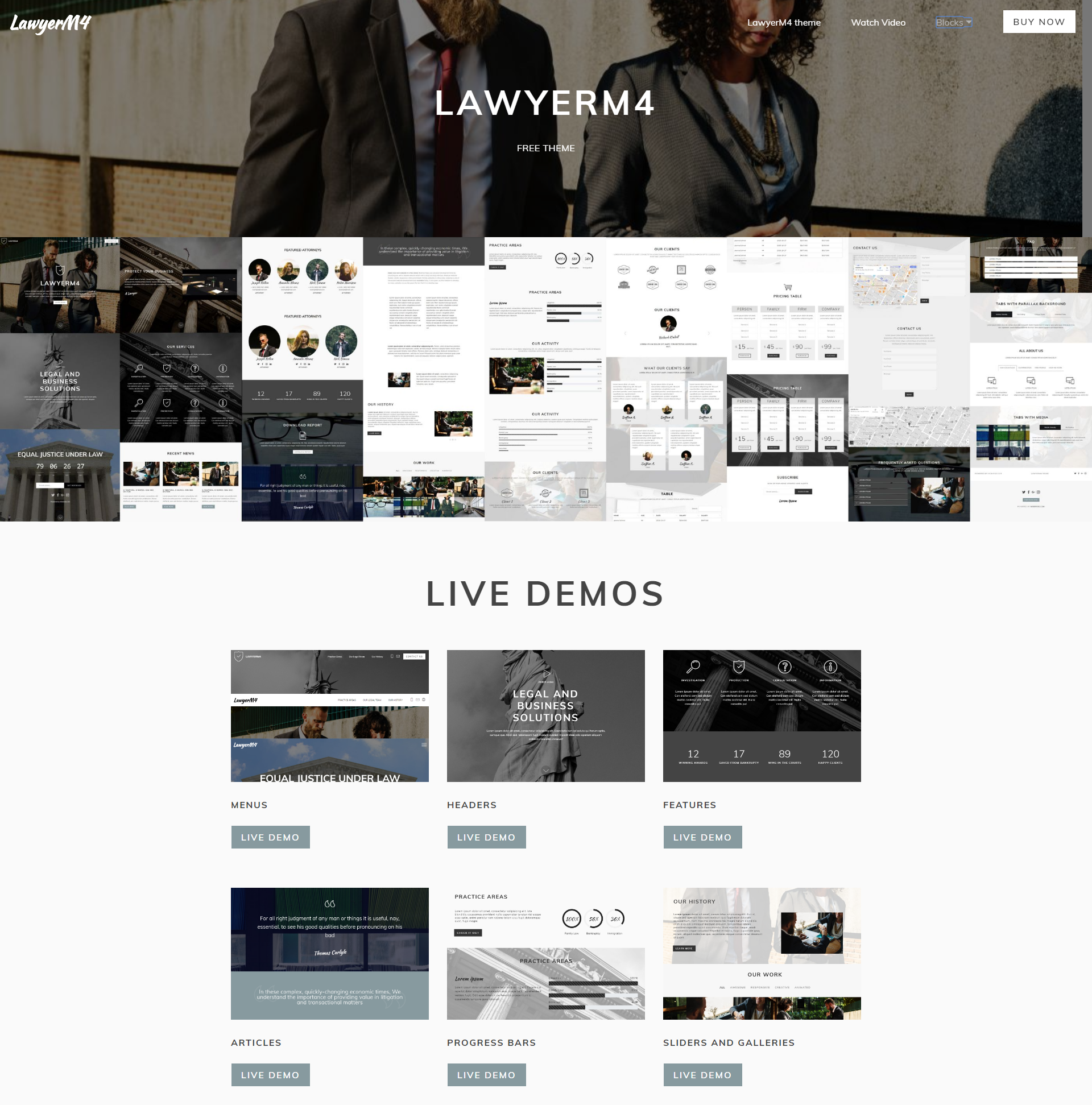 HTML Bootstrap LawyerM4 Themes