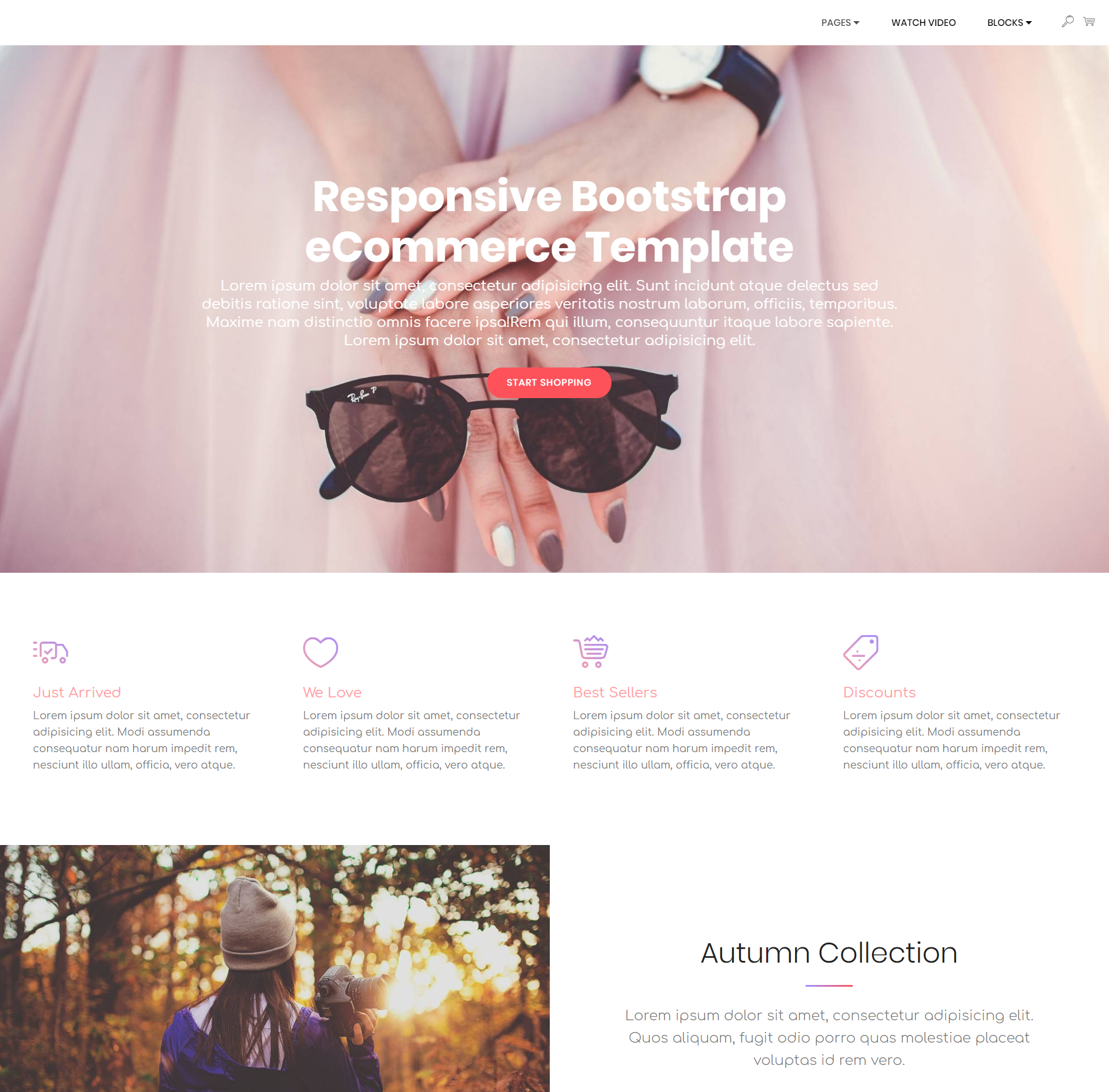 Free Download Bootstrap Responsive eCommerce Themes